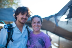 Photographer Benjamin Sitzmann and E3 Assistant and Residue Analysis Expert, Vanessa Linares